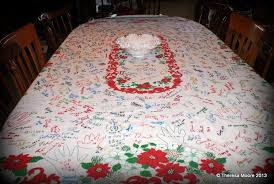 this tablecloth is a tradition every family should adopt