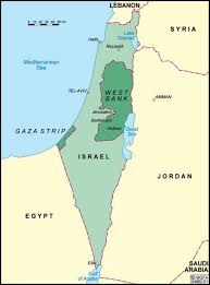 political map of israel political geography israel