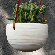 Modern Hanging Planters by Unique Hand Built Pottery Hand Made Pottery Planter Succulent