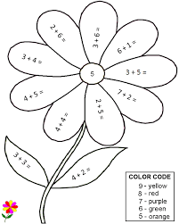 quality pre made math worksheets color by number sub tub