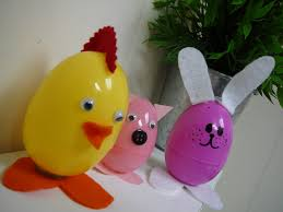 easter craft idea turn plastic easter eggs into cute animals