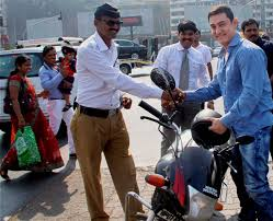 Aamir Khan Home Photos Dhoom 3 U0027s Biker Aamir Khan Spreads Road Safety Photo
