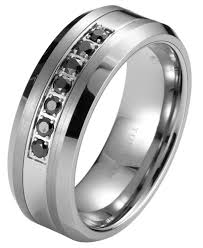 men s wedding band black diamond tungsten carbide men s wedding ring band 8mm classic