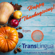 happy thanksgiving from the staff at translingua