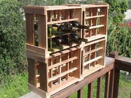 custom eco friendly stackable wine racks handmade recycled rustic