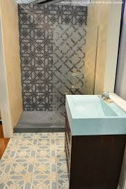 bathroom wall stencil ideas 53 best glass mirror stenciling images on stenciling