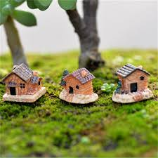 miniature house ornaments 45degreesdesign