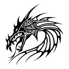 dragon sword cross tattoo design