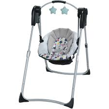 Graco Baby Swing Chair Graco Slim Spaces Compact Baby Swing Etcher Walmart Com