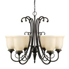 globe electric beverly 6 light oil rubbed bronze chandelier with