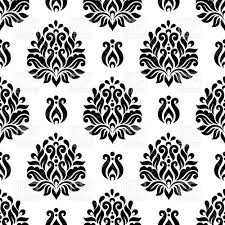 seamless damask wallpaper vintage floral ornament vector clipart
