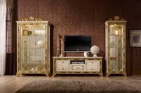 wohnzimmer edel wohnwand wohnzimmer sarah beige gold 3tlg italien barock klassik
