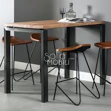 table haute pour cuisine table haute style industriel table haute en bois massif et inox cuba