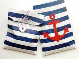 nautical gift bags is the party nautical party favor bag with whisker graphics