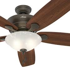 hunter fan 60 in new bronze ceiling fan with swirled marble light