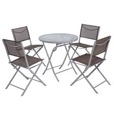 Patio Table And 4 Chairs by 5 Pcs Folding Patio Table Chair Outdoor Furniture Sets Outdoor