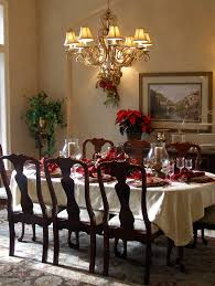 christmas decor for round tables dining room christmas dining room decorated rooms photos outlet