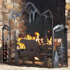 Rustic Hearth Rugs Rustic Fireplace Screens With Bear Moose U0026 Wildlife Designs