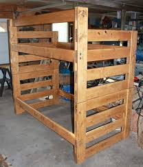 Wood For Building Bunk Beds by Easy Modular Pine Bunkbeds 9 Steps With Pictures