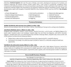 electrical engineering resume objective electrical engineering cv