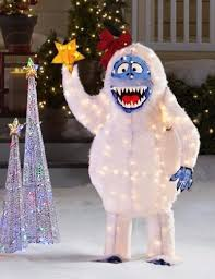 Outdoor Lighted Snowman Decorations by Find More Life Size 5 Ft Bumble Abominable Snowman Lighted 3d Yard