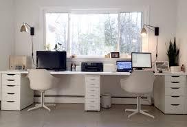 two person desk ikea ikea desk office office ikea ikea micke desk setup in home for two