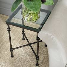 pompidou small metal u0026 glass side table oka