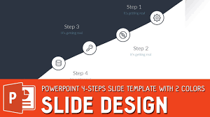 powerpoint design colors slide design tutorial powerpoint 4 steps slide template with 2
