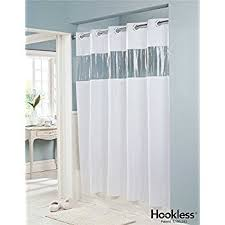 Shower Curtain Clear Vision Vinyl Shower Curtain Hookless White With