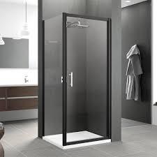 900 Shower Door Novellini Zephyros G Hinged Shower Door 900 Black Finish Zephyrg86