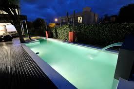 modern swimming pool design rectangle frame clear glass window