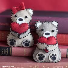 valentines bears mini s day bears from felt lia griffith