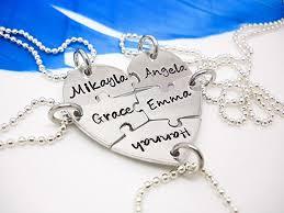 heart puzzle necklace images 5 piece heart puzzle piece necklace personalized jpg