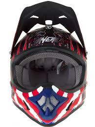 motocross helmet and goggles oneal blue red white 2018 3series mercury mx helmet oneal