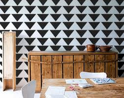 Mod Home Decor Allover Stencil For Walls Mod Triangle Pattern Diy Home Decor