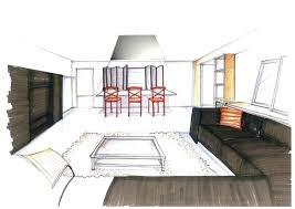 dessiner en perspective une cuisine salon dessin perspective urbantrottcom salon dessin perspective