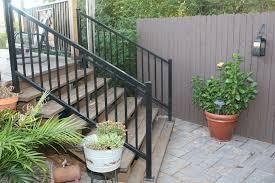 Handrails For Outdoor Steps Exterior Handrails For Steps Awe Inspiring On Modern Home