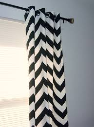 Gray And White Chevron Curtains Black White Chevron Curtains Grommet Top 63 72 84 90 96 108
