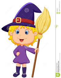 cute cartoon witch royalty free stock photo image 33235515
