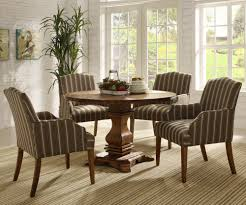 Casual Dining Room Sets Homelegance Euro Casual Round Pedestal Dining Table In Rustic