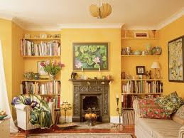 living room nice yellow living room match the glass wall and