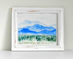 watercolor mountains step by step tutorial