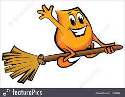 halloween cartoon clip art halloween cartoon character flying on the broom stock