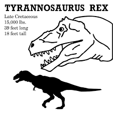 head clipart tyrannosaurus rex pencil and in color head clipart