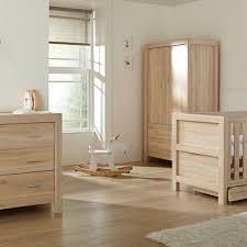 Oak Furniture Tutti Bambini Milan 3 Piece Cot Bed Top Changer Wardrobe Oak