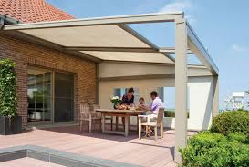 canvas pergola cover lagune renson