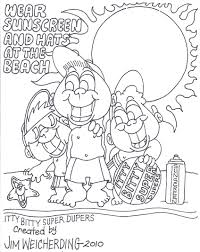 sun safety coloring pages new creativemove me