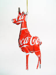 giraffe tin scultpture recycled tin ornaments