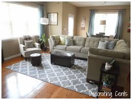 Carpet Ideas For Living Room by Awesome Blue And White Living Room Idea With Cool Tufted Red Chair