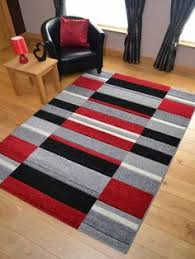 Black And Silver Rug Glade Check Rugs In Black Red White Grey Buy Online From The Rug
